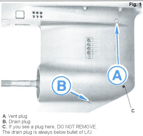 lower unit  foot  descriptions on an outboard boat motor